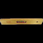 "Sears Roeuck Vintage 18"" Wood Level"