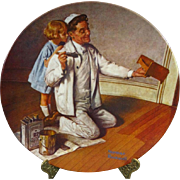 Edwin M. Knowles Ltd Ed Norman Rockwell The Painter Decorative Plate 1983