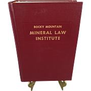 Rocky Mountain Mineral Law Institute #31