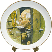 Norman Rockwell Old Man Winter Collector's Plate c. 1979