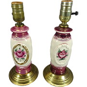 Pair of Beautiful Vintage Porcelain Lamps