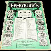 Everybody's Favorite Songs (Series No. 1) Sheet music – 1933