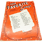Your Favorite Songs Complete With Words and Music c. 1953