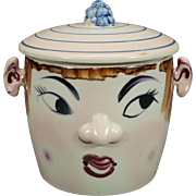 Vintage Hand-Painted Cookie Jar and Her Hat is the Lid and Her Ears are ...