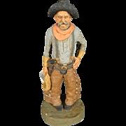 """Vintage 9"""" Michael Garman Cowboy Sculpture"""