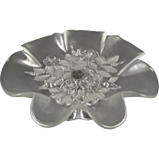 Mikasa Rosella Pattern Frosted & Clear Floral Footed Serving Dish