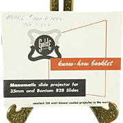 Golde Model 300-P-1042 Manual c. 1940s