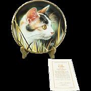 Hamilton Collection Cat Tails Collectors Plate by Qua Lemonds c. 1993 COA