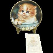 Hamilton Collection Ginger Snap by Qua Lemonds Collectors Plate c. 1993 COA