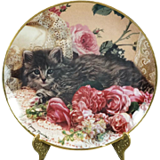 Franklin Mint Bed of Roses by Nancy matthews Collectors Plate Signed