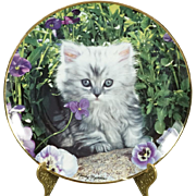 Franklin Mint Purrfect Pose by Nancy Matthews Collectors Plate Signed