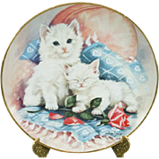 Franklin Mint Purrfectly Precious by Brian Walsh Collectors Plate Signed