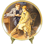 Edwin Knowles Confiding in the Den Collectors Plate by Norman Rockwell c. 1983