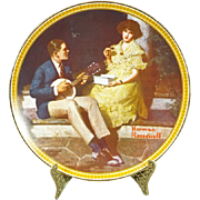 Edwin Knowles Pondering on the Porch Collectors Plate by Norman Rockwell c.1980s
