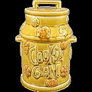 Brown Ceramic Hand-Painted Milk Jug Cookie Jar