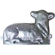 SALE Old Cast Iron Lamb Candy / Cake Mold