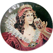 "Falstaff ""Maiden"" Advertising Beer Tray"