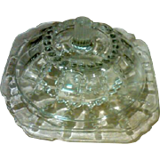 """SALE Federal Glass """"Columbia"""" 2-Pc Domed Butter Dish.  Circa:1938-42"""