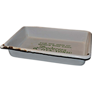 Frederics Vita-Tonic Compound Hair Product White Porcelain Advertising Tray 1920's