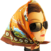 Souvenir scarf French Mediterranean. Josette Franco, Paris.