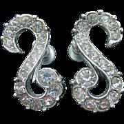Stunning LEDO - Polcini S Curve rhinestone earrings