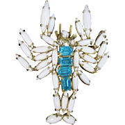 Unsigned SCHREINER Lobster brooch. Wants love.