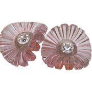 Pink & Clear Lucite Earrings
