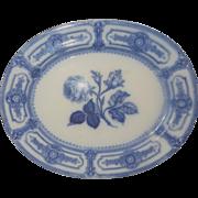 Ridgway Italian Rose Pattern Flow Blue Platter