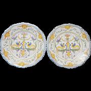 Pair of Italian Faience/Majolica Plates
