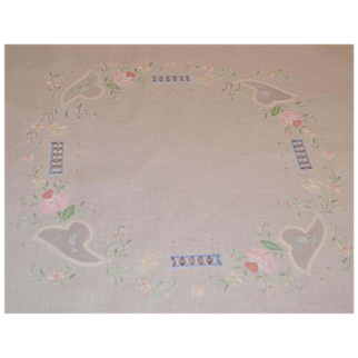 SALE Handmade Applique Embroidery Cut Work Linen