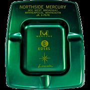 SOLD Authentic Mercury Edsel Lincoln Dealership Advertising Ashtray Minneapolis Minnesota