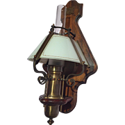 Very nice old wooden wall lamp