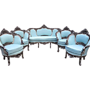 Venetian set of 4 chairs, Italian amazing look