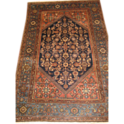 SOLD Persian handmade Malayer Oriental Rug circa 1920 , 6.5 x 4.2