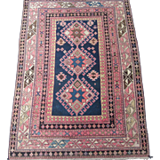SALE Antique East Caucasian Oriental Rug circa 1900 , 5.1 x 3.6