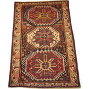 REDUCED Antique Zeychour Kuba Oriental Rug ,Eastern Caucasus,late 19th Century, 4.8 x 3.2