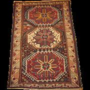 REDUCED Antique Zeychour Kuba Oriental Rug ,Eastern Caucasus,late 19th Century, 4.8 x 3.2