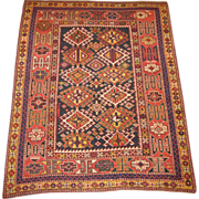 SALE Antique Shirvan  Oriental Rug ,Eastern Caucasus,circa 1900 , 4.4 x 3.7