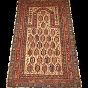 Antique Maraseli Prayer Rug,Eastern Caucasus,last Quarter 19th Century,5.1 x 3.3