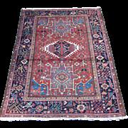 REDUCED Karadja Oriental Rug,Northwest Persia circa 1930 , 5.11 x 4.6