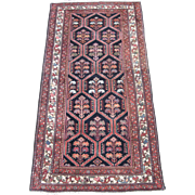 Antique Malayer Oriental Rug , Western Persia ,Early 20th Century , 6.6 x 3.4