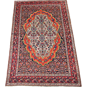 REDUCED Antique Bibik-Abad Oriental Rug , Western Persia circa 1900 , 6.2 x 4.1