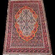 REDUCED Antique Bibik-Abad Oriental Rug , Western Persia circa 1900 , 6.2 x 4.1