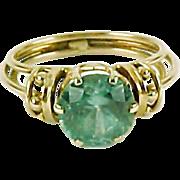 Blue Zircon 14k Gold ring