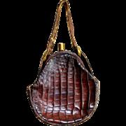 SOLD Vintage DECO 20s FLAPPER PURE ALLIGATOR Purse/Bag 1920s