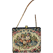 Vintage 30s PETIT POINT Art Nouveau MINI Purse/Bag 1930s