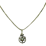 REDUCED Antique Black Enamel and Opal 14 Karat Gold Mourning Pendant with 14 Karat Yellow ...