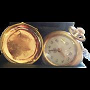 Antique Rare 14 Karat Joseph Vergaly Pocket Watch. Running