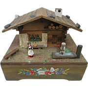 Reuge Swiss Chalet Music Trinket Box - Emmenthalerlied - Switzerland