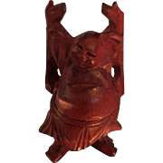 SALE Wooden Burgundy Buddha circa 1960 from China